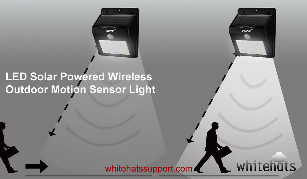 LED Solar Powered Wireless Outdoor Motion Sensor Light-home security surveillance system and solutions -cctv camera installation dubai-WhitehatsSupport