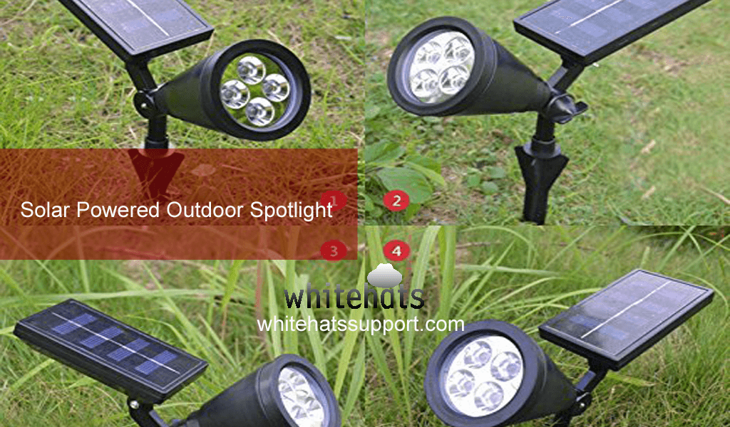 Solar Powered Outdoor Spotlight-home security surveillance system and solutions -cctv camera installation dubai-WhitehatsSupport